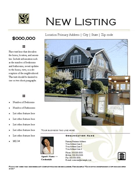 home listing template real estate listing flyer template free 28 images real