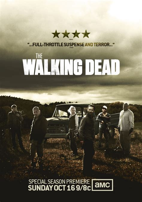 Poster Serial Tv The Walking Dead Cast 2 40x60cm the walking dead season 2 posters the walking dead season 2 poster by jevangood rick season