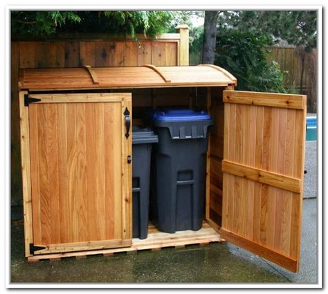 Trash Can Shed Plans by Trash Can Storage Outdoor Home Design Ideas