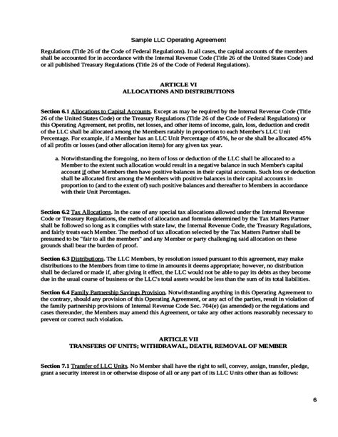 free sle llc operating agreement 28 images free single