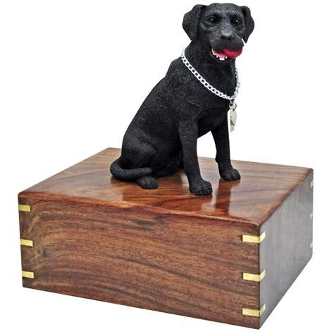 pet urns for dogs labrador retriever black figurine wood urn