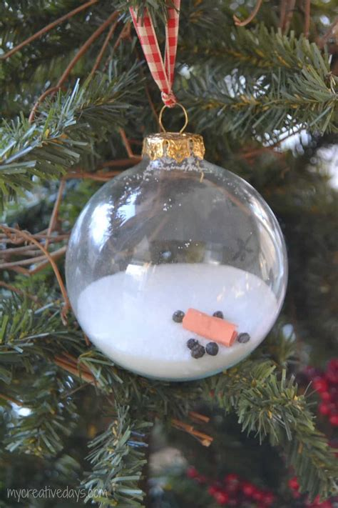 Childrens Handmade Ornaments - melted snowman ornament my creative days