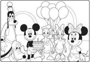 mickey mouse clubhouse coloring pages mickey mouse clubhouse birthday coloring page birthday