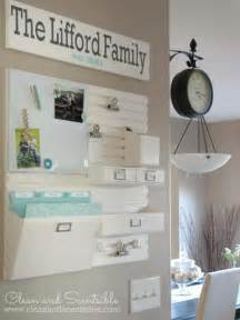 kitchen wall organization ideas how to organize bills clean and scentsible