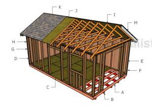12x20 gable roof plans howtospecialist how to build