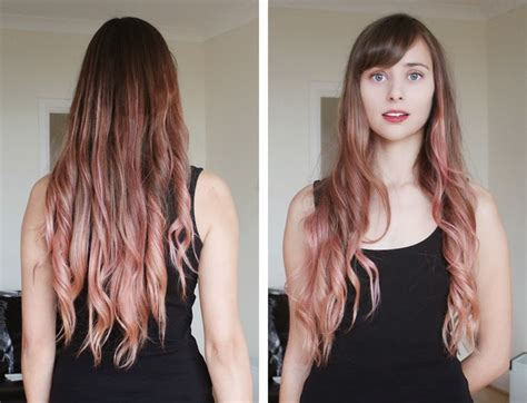 dark black brown to pastel ombre hair color trends 2015 pastel pink ombre with la riche in carnation pink