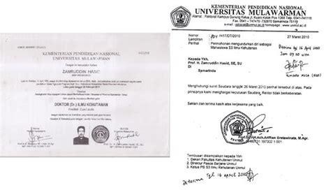 quot ada surat mundur mahasiswa s 3 rektor mulawarman