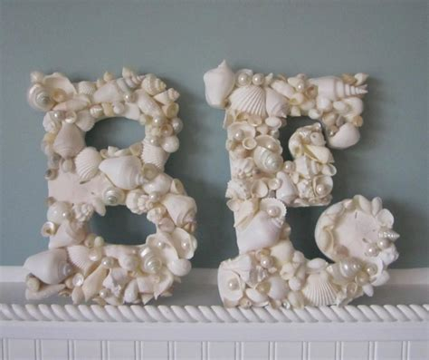 shell letters for decor any 2 nautical decor