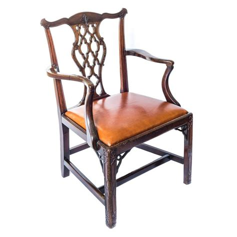 chippendale armchair 18th century english georgian gothic chippendale tan