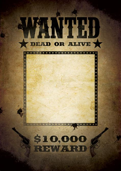 Wanted Poster Template Free Poster Templates Backgrounds Free Wanted Poster Template