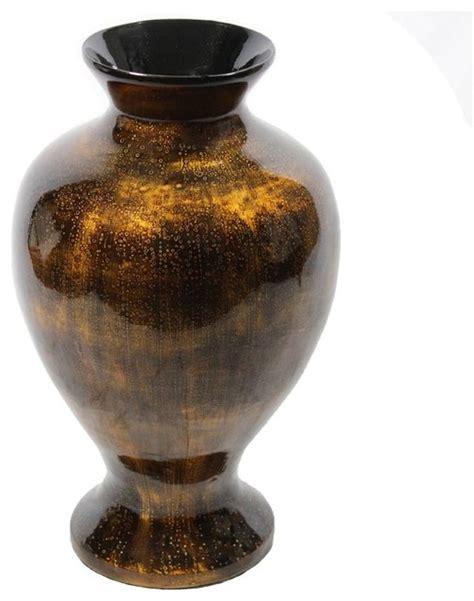 copper lacquer bamboo vase sku en30502 vases by