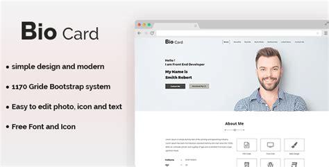 bio card template images templates design ideas