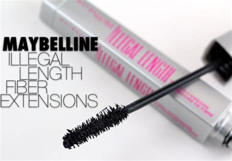 Maybelline Illegal Lengths maybelline illegal length mascara is just about a