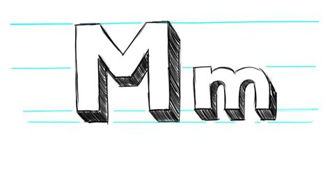 M Drawing Images by 3d Letters Lowercase Theveliger