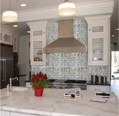 kitchen backsplash tiles diamond mother of pearl mosaic