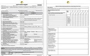 safe work permit template safe work permit new form beaed qia celanese pasadena