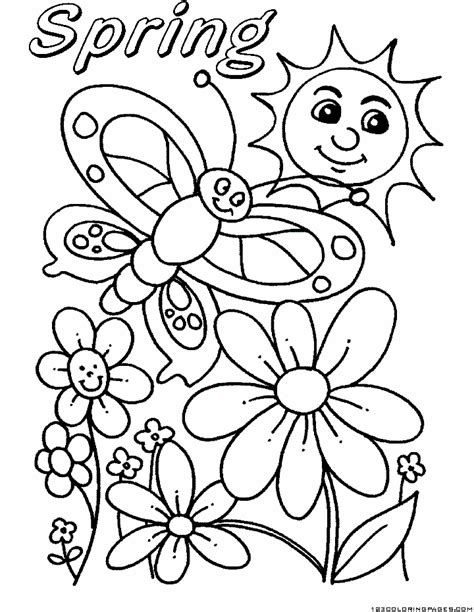 spring coloring pages part 2