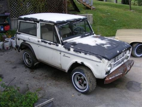 purchase used 1968 ford bronco salvage title rebuild for
