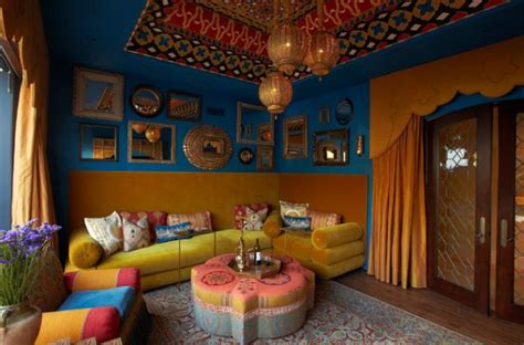 Moroccan Themed Living Room by Moroccan Inspired Decor