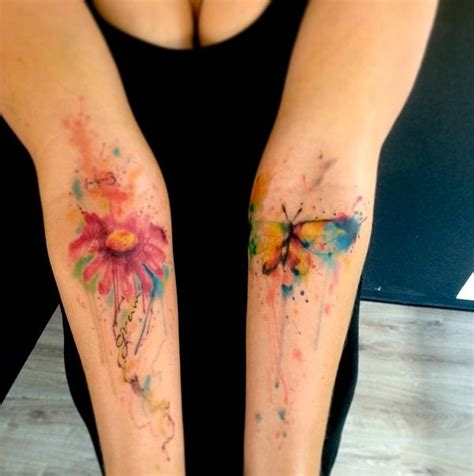 watercolor tattoos heilbronn emrah de lausbub ink inkobserver watercolors