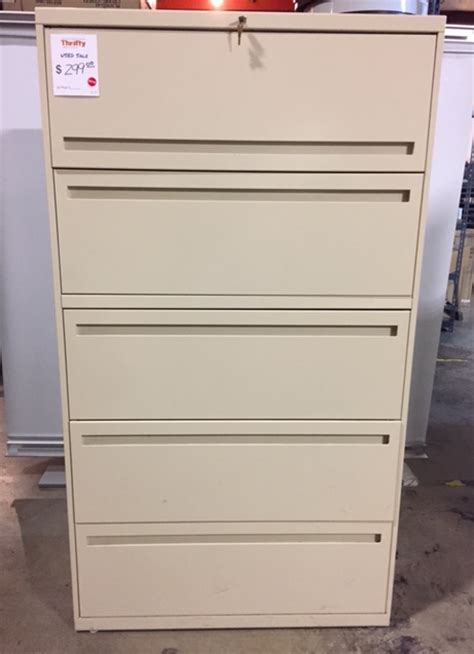 36 lateral file cabinet 36 quot w five drawer lateral file cabinet 120116a thrifty