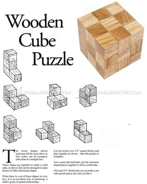 diy wooden cube puzzle woodworking plans puzzles