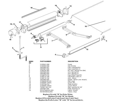 dometic awning parts breakdown a e 8500 awning parts diagram pictures to pin on pinterest