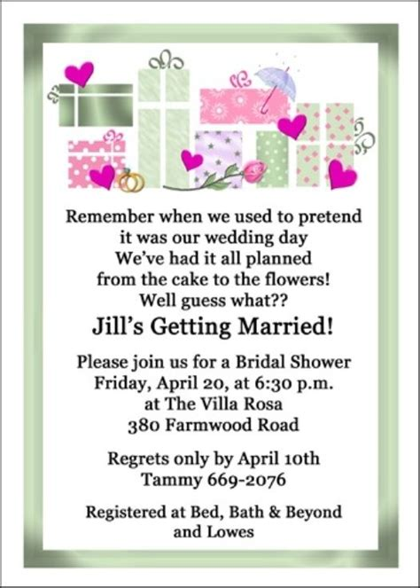 Wedding Shower Announcement Wording by 8 Best Images About Wedding Shower Invitations Wording On