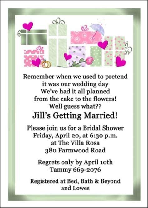 Honeymoon Bridal Shower Invitation Wording by 8 Best Images About Wedding Shower Invitations Wording On