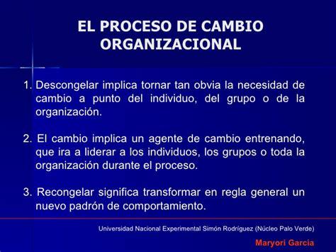 procesos de cambio organizacional gestiopolis diapositivas grupo 8