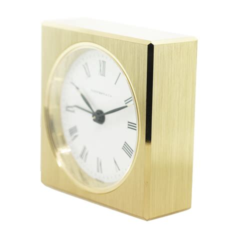 and co brass desk clock co solid brass square alarm desk table clock