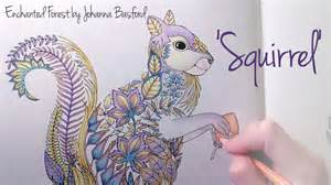 Coloring Book Enchanted Forest Enchanted Forest Johanna Basford Squirrel Youtube