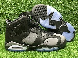 Air 4 Cool Grey Grade School by New Air 6 Vi Retro Gs Grade School Black Cool Grey White 384665 010 Ebay