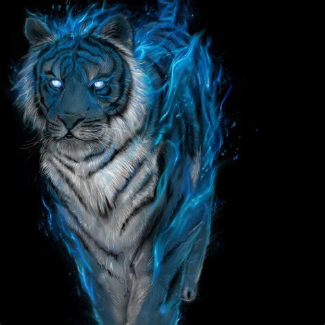 Blue Tiger blue tiger by krowzy on deviantart