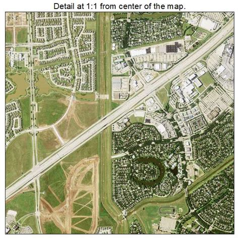 aerial photography map of sugar land tx texas