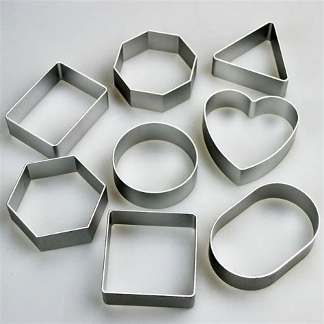 set   basic shapes cookie cutters square  heart