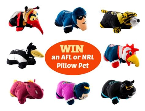 Kittens Giveaway Brisbane - nrl and afl mascots are on the same pillow pets team giveaway mum s lounge