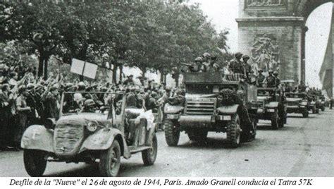 la nueve 24 aot los republicanos espa 241 oles del 24 de agosto de 1944 en el ayuntamiento de par 237 s pol 237 tica