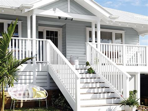 white exterior queenslander home exterior inspirations paint
