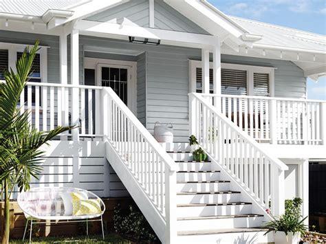 white exterior queenslander home exterior inspirations paint