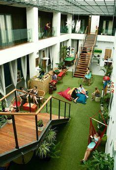 chill zone bean bags indoor garden breakout space office leed gold