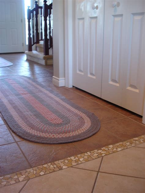 Floor Tile And Decor Love The Tiled Transition Between Flooring Woodhaven Lane