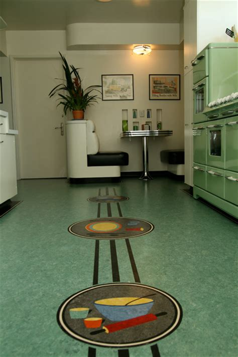 linoleum floor modern kitchen los angeles by crogan inlay floors
