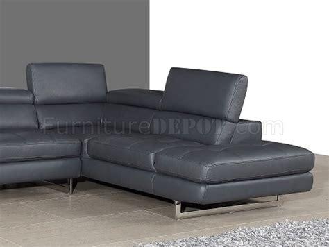 slate grey leather sofa 1200138 bladen
