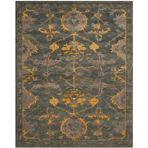 safavieh blue gray gold 6 ft x 9 ft area rug