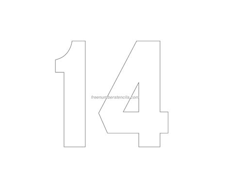 stencil template free jersey printable 14 number stencil