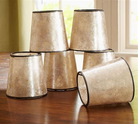 Mini Chandelier L Shades Mini Mica Drum Chandelier Shade Set Of 3 Pottery Barn