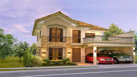 two storey homes two storey house design with floor plan philippines youtube