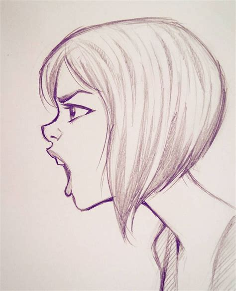 front face hair styles sketches best 25 side face drawing ideas on pinterest side of