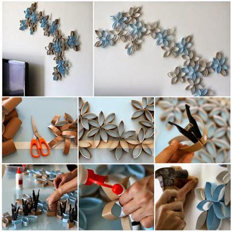 diy 3d paper roll flower wall